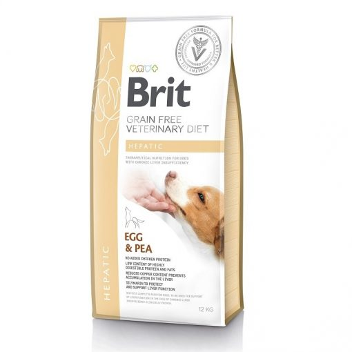 Brit Hepatic Veterinary κλινικη διαιτα για σκυλους Grain Free για Ηπατικη ανεπαρκεια