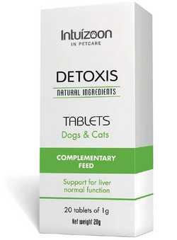 Intuizoon Detoxis φυσικο συμπληρωμα διατροφης για σκυλου ηπατικη ανεπαρκεια γατας
