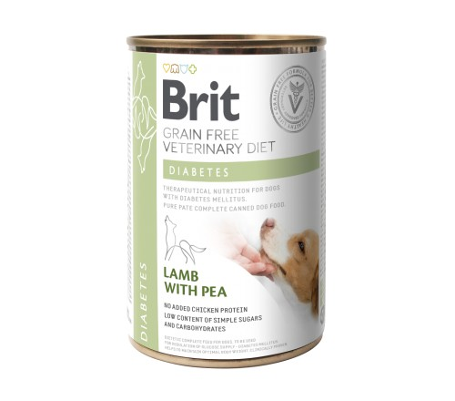 Brit Diabetes Vd κλινικες διαιτες κονσερβα για σκυλους