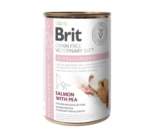 Brit Hypoallergenic VD κλινικη υποαλλεργικη τροφη κονσερβα σκυλου Grain Free