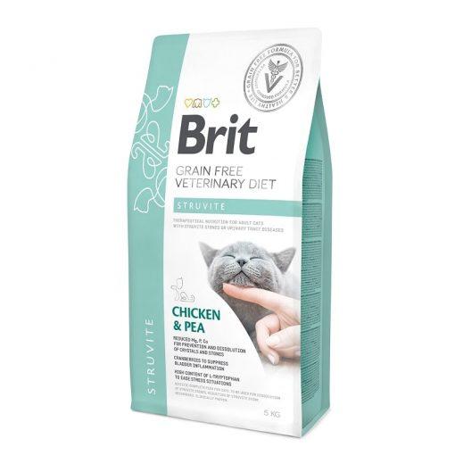 Brit κλινικη διαιτα γατας Struvite για ουρολιθιαση
