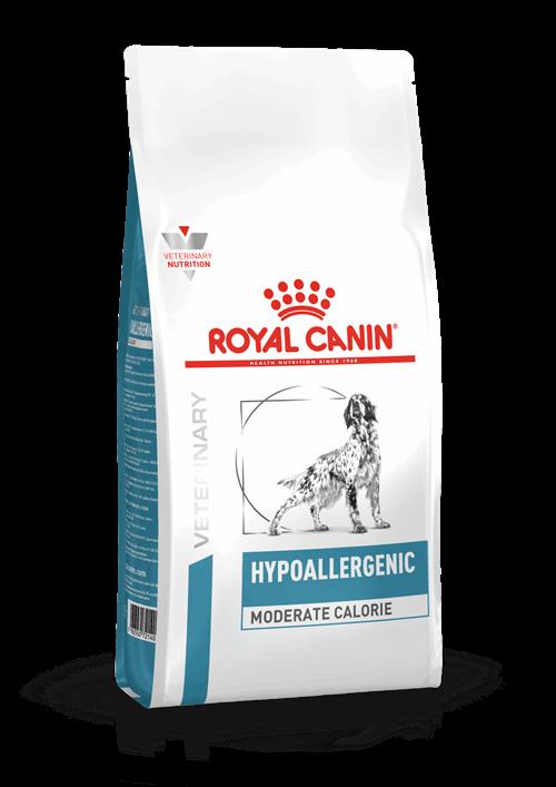 Royal Canin Hypoallergenic Moderate Cal τροφη για σκυλους κλινικη διαιτα για τροφικη αλλεργια