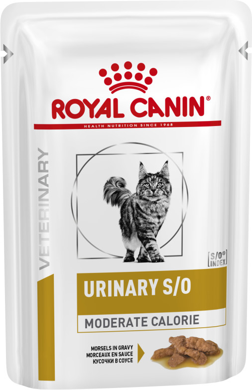 Royal Canin Urinary Moderate Calorie κλινικες διαιτες γατας κονσερβα